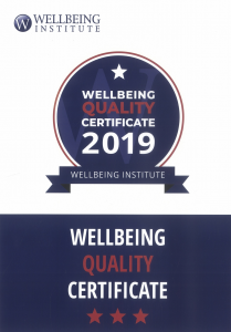 WELLBEING QUALITY CERTIFICATE 2019